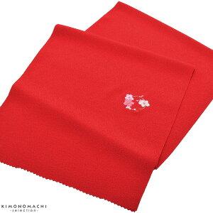 七五三 帯揚げ「赤色 花の丸」