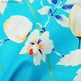KIMONOMACHI浴衣セット「ブルー風船かずら」F(フリー)女性浴衣セット京都きもの町オリジナルレディース【メール便不可】