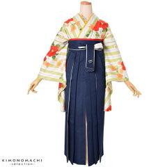 卒業袴 二色 袴単品「紺×白」