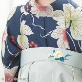 袴単品「アイスグレー椿の刺繍」卒業式袴レディース行燈袴SS/2S・S・M・L・LL/2Lサイズ女の子袴女性用袴単品【メール便不可】