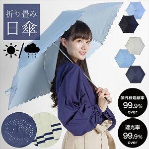 日傘 晴雨兼用「セーラーボーダー、はりねずみ」