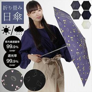 日傘 晴雨兼用「ハリネズミ、猫と綿毛」