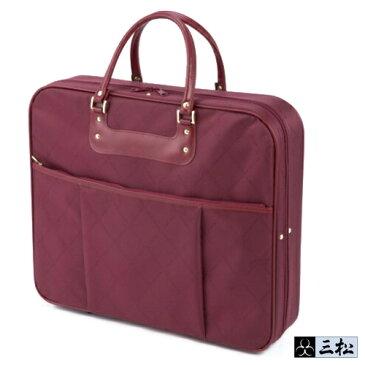 【送料無料】和装カバン あづま姿 日本製 「着物バッグ」持ち運び ラクチン ワインレッド