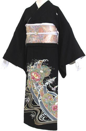 【レンタル】【往復送料無料】黒留袖レンタル 2234 20点フルセット!結婚式・留袖・黒留袖・レンタル・貸衣装・女性和服・かんざし付き