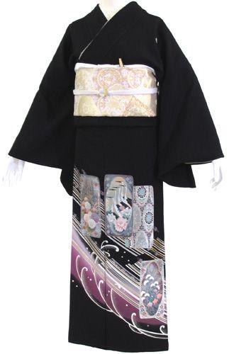 【レンタル】【往復送料無料】黒留袖レンタル 2236 20点フルセット!結婚式・留袖・黒留袖・レンタル・貸衣装・女性和服・かんざし付き