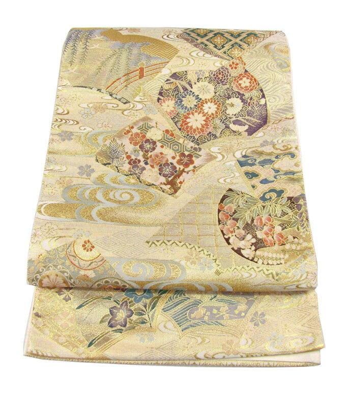 【往復送料無料】】西陣織 高級 袋帯レンタル 005番 着物 帯 袋帯 レンタル 正絹