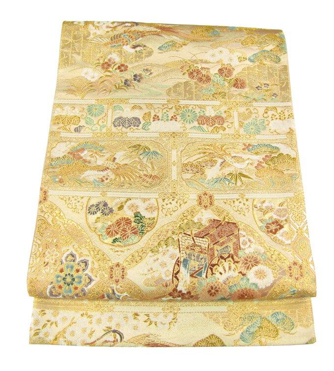 【往復送料無料】】西陣織 高級 袋帯レンタル 014番 着物 帯 袋帯 レンタル 正絹