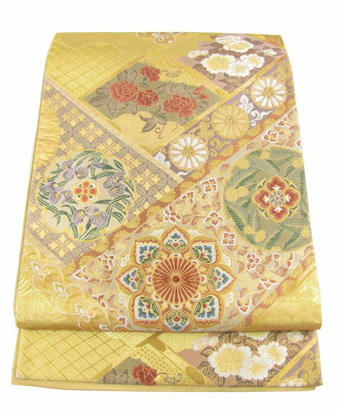 【往復送料無料】】西陣織 高級 袋帯レンタル 015番 着物 帯 袋帯 レンタル 正絹