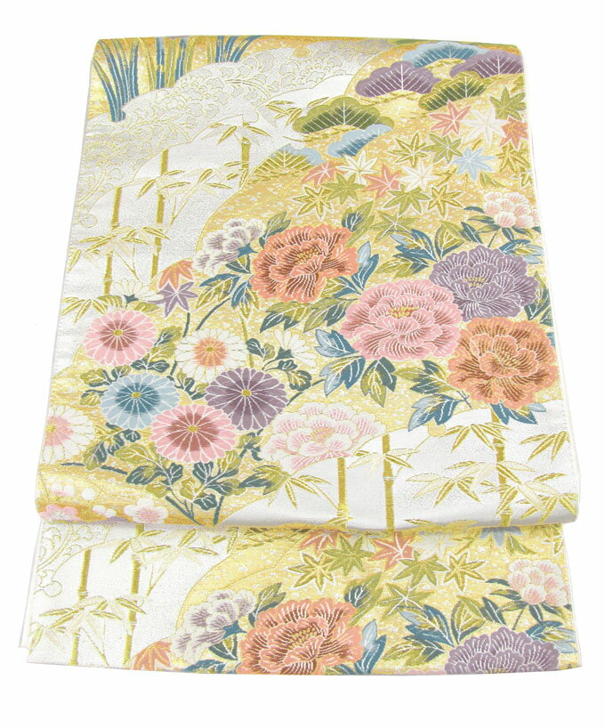 【往復送料無料】】西陣織 高級 袋帯レンタル 017番 着物 帯 袋帯 レンタル 正絹