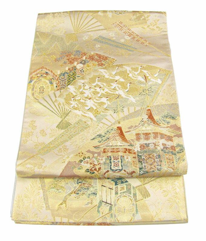 【往復送料無料】西陣織 高級 袋帯レンタル 018番 着物 帯 袋帯 レンタル 正絹