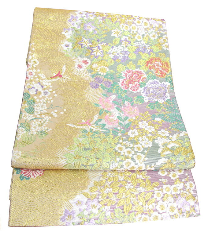 【往復送料無料】】西陣織 高級 袋帯レンタル 032番 着物 帯 袋帯 レンタル 正絹