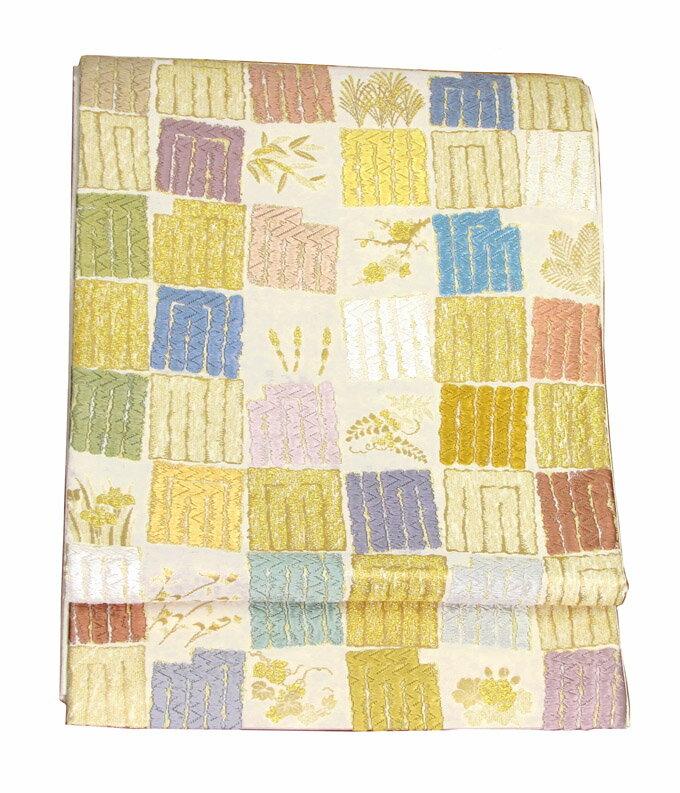 【往復送料無料】】西陣織 高級 袋帯レンタル 035番 着物 帯 袋帯 レンタル 正絹