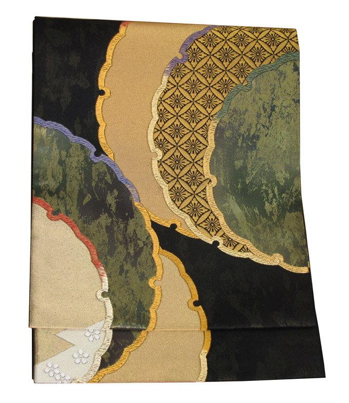【往復送料無料】西陣織 高級 袋帯レンタル 038番 着物 帯 袋帯 レンタル 正絹
