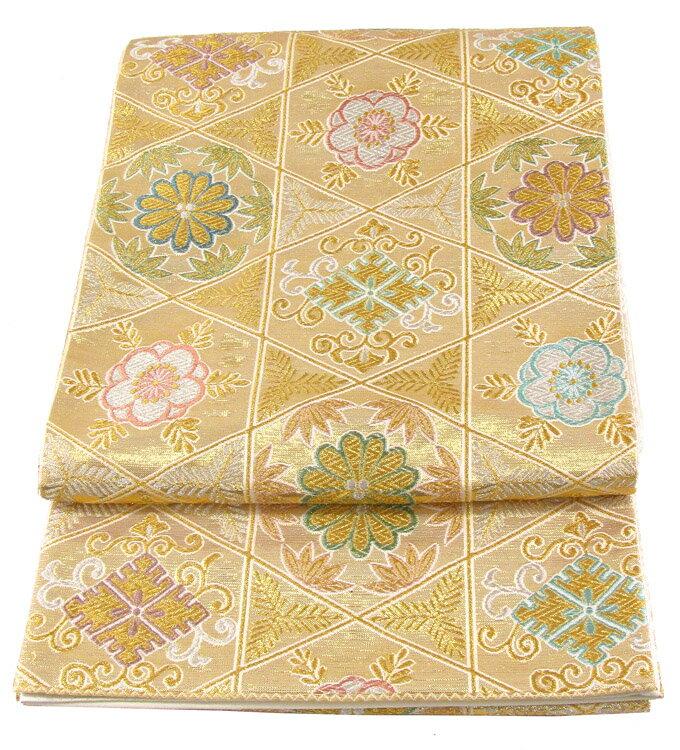 【往復送料無料】ブランド 桂由美 西陣織 高級 袋帯レンタル 039番 着物 帯 袋帯 レンタル 正絹