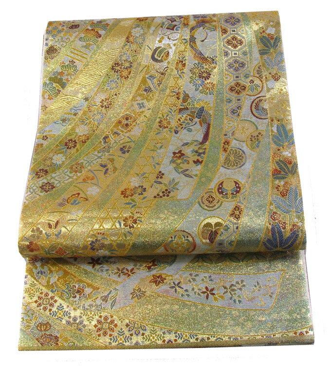 【往復送料無料】西陣織 高級 袋帯レンタル 045番 着物 帯 袋帯 レンタル 正絹