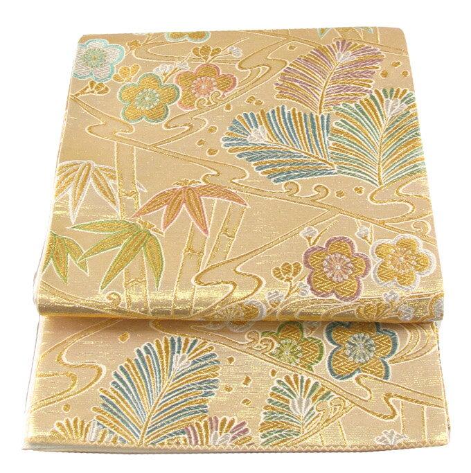 【往復送料無料】ブランド 桂由美 西陣織 高級 袋帯レンタル 047番 着物 帯 袋帯 レンタル 正絹