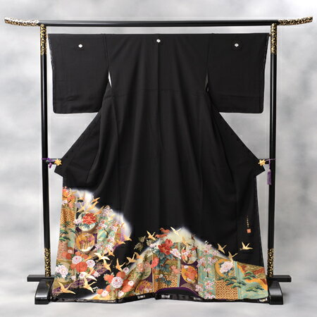 【レンタル】 黒留袖レンタル 着物レンタル 留袖 kansai-9 フルセット 黒留袖 レンタル 結婚式 披露宴 レンタル 母親 親族 列席者 おすすめ 貸衣装 正絹 姉妹 叔母 伯母