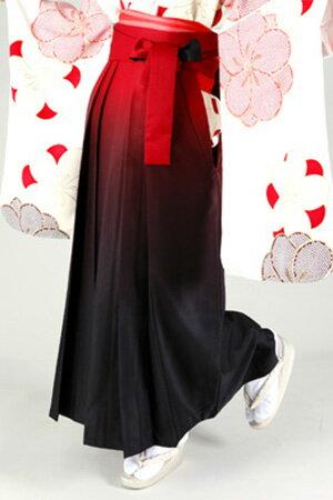 【レンタル】 2021年 卒業式 ご予約受付中■ 卒業式 袴(はかま)単品レンタル 紅黒ぼかし刺繍なし【 袴 大学 先生 レトロ 】