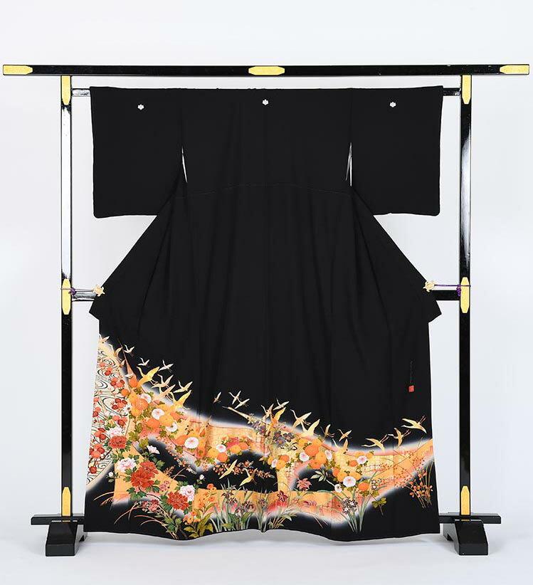【レンタル】 黒留袖レンタル 着物レンタル 留袖 kansai-3 フルセット 黒留袖 レンタル 結婚式 披露宴 レンタル 母親 親族 列席者 おすすめ 貸衣装 正絹 姉妹 叔母 伯母