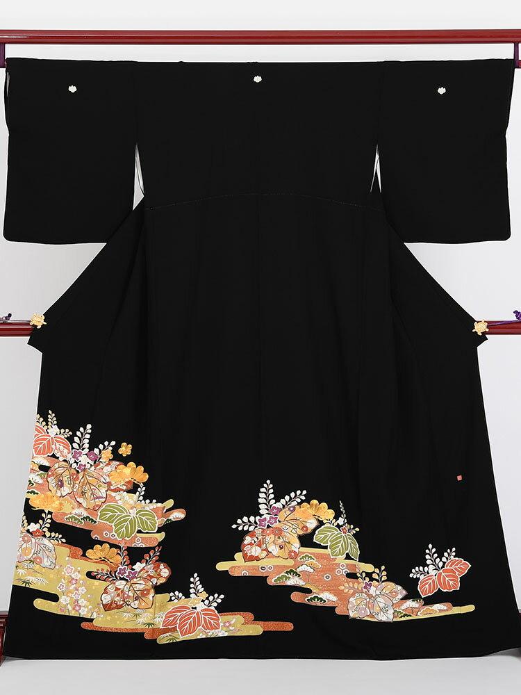 【レンタル】 黒留袖 レンタル t-409 【往復送料無料】 留袖レンタル 留袖 レンタル 黒留袖レンタル フルセット 留袖 セット 黒留袖 セット 和服 着物 貸衣装