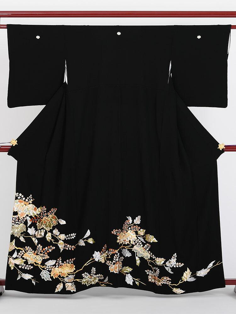 【レンタル】 黒留袖レンタル 着物レンタル 留袖 t-412 フルセット 黒留袖 レンタル 結婚式 披露宴 レンタル 母親 親族 列席者 おすすめ 貸衣装 正絹 姉妹 叔母 伯母