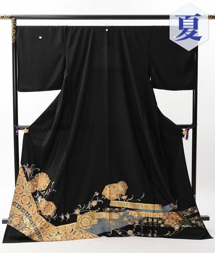 【レンタル】 黒留袖レンタル 着物レンタル 留袖 th-001 【単衣】 フルセット 黒留袖 レンタル 結婚式 披露宴 レンタル 母親 親族 列席者 おすすめ 貸衣装 正絹 姉妹 叔母 伯母