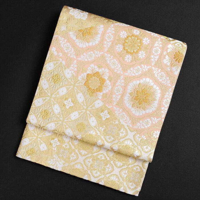 【レンタル】 西陣織メーカー 高島織物謹製 変わり七宝柄の袋帯【obi-26-305】