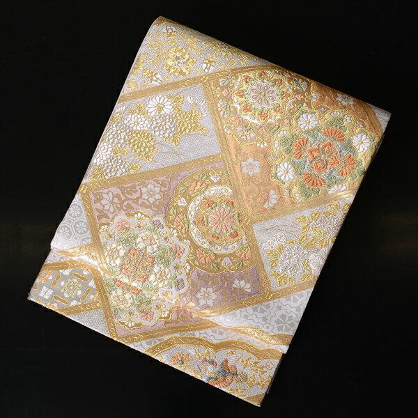 【レンタル】 【obi-25-83】西陣織、長尺の袋帯レンタル・有職文様【送料無料】