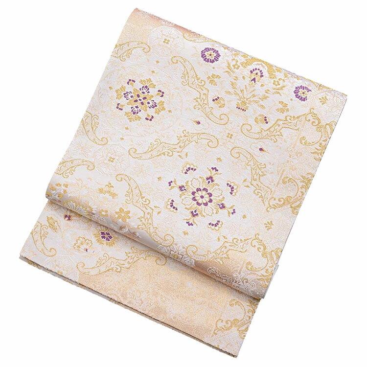 【レンタル】 白地の西陣織袋帯【obi-26-295】