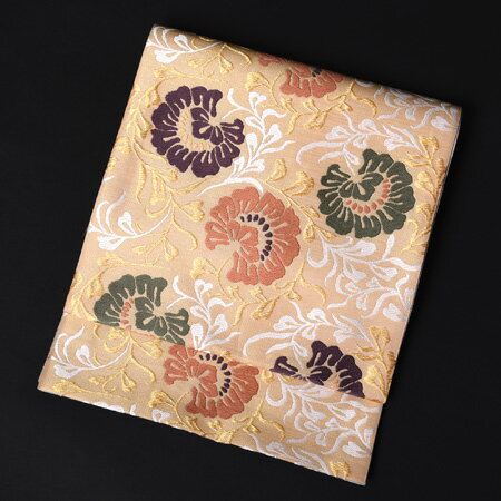 【レンタル】 高級長尺袋帯 西陣織 唐花文【obi-26-103】