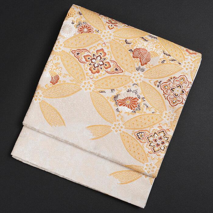 【レンタル】 KIMONO-PRO黒留袖・色留袖・訪問着に最適な高級袋帯 加納幸謹製 七宝 銀地 obi-26-307