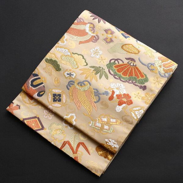 【レンタル】 宝尽くし柄の西陣織袋帯【obi-26-97】