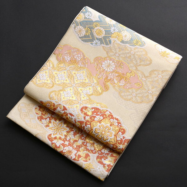 【レンタル】 雲取り柄の西陣織袋帯【obi-26-98】