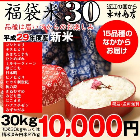 【新米!福袋米】白米10kg【平成28年・滋賀県産】10kg×1袋でのお届けです♪】【送料無料】