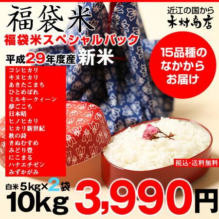 【福袋米スペシャルパック】白米5kg×2袋【平成28年:滋賀県産】【送料無料】