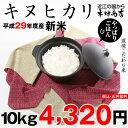 キヌヒカリ 10kg 送料無料 新米 29年【滋賀県産】出荷日お選びいただけます♪