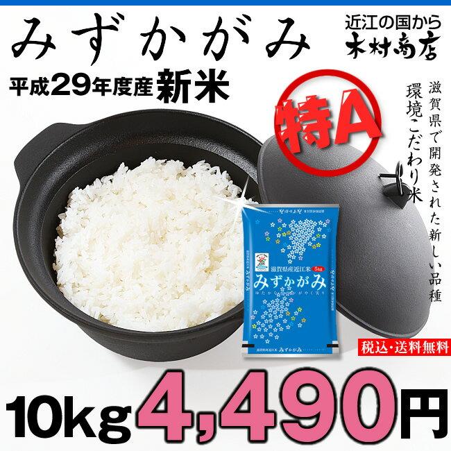 【新米!】みずかがみ 環境こだわり米 10kg【平成29年・滋賀県産】
