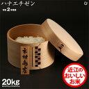 【新米】ハナエチゼン 玄米のまま20kgもしくは精米済み白米20kg 【令和2年:滋賀県産】【送料無料】