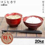 コシヒカリ 環境こだわり米 玄米のまま20kgまたは精米済み白米20kg 令和2年 滋賀県産 送料無料