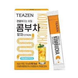【ジョングクおまけ付き】TEAZEN(ティーゼン) コンブチャ ゆず 10包 韓国 お茶 健康茶 昆布茶 コンブ茶 柚子7 送料無料