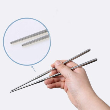 【ゆうパケット便送料無料】韓国食器ステンレス真空超軽い韓国箸 軽い箸 軽箸 一膳