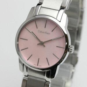 正規品カルバンクライン腕時計K2G2314Eシティ(レディース/女性用)ピンクマザー・オブ・パール文字盤ckcityメーカー2年保証CalvinKlein
