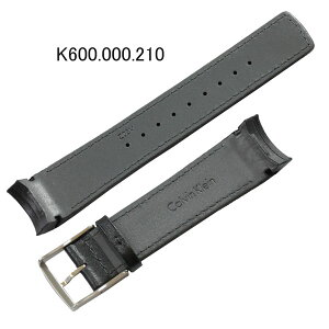 【お取り寄せ商品】カルバン・クライン純正バンド・ベルトK5A271用レザーバンド/黒色ブラック/カルバンクライン部品番号:K600.000210=K600000210