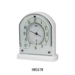 セイコーエンブレム置き時計HW587W電波クロック(電池式)メーカー1年保証SEIKO-EMBLEM-Clock-WH587W