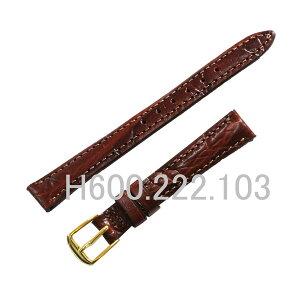 Натуральная тесьма Hamilton / ремень / задняя крышка номер 6208 тисненый теленок / коричнево-коричневый / сторона часов 12 мм, сторона пряжки 10 мм / номер детали HAMILTON: H600.222.103 = H600222103