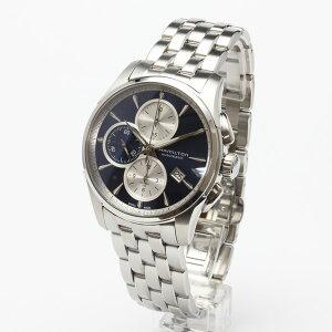 ハミルトン腕時計H32596141/ジャズマスターオートクロノ(機械式自動巻き)ブルーダイヤル/ブレスレット2年保証HAMILTONJazzmasterAutoChrono【送料無料】