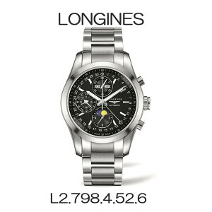 正規品 ロンジン腕時計 L2.798.4.52.6コンクエストクラシック/オートマチック(メンズ)/黒文字盤Longines ConquestClassicメーカー2年保証 LONGINES【送料無料】