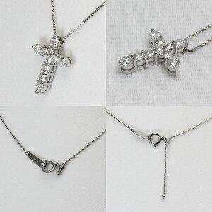 プラチナクロスネックレスダイヤモンド1.04ctクロスペンダント十字架Pt850