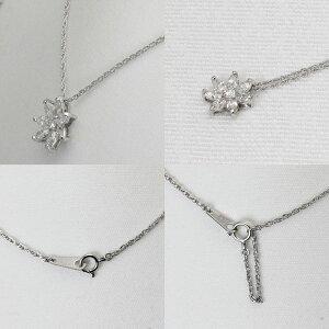 フラワーモチーフネックレスダイヤモンド8石1.18ct/プラチナ850フラワーペンダント1.18ct/Pt850