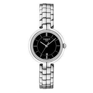 正規品ティソ腕時計T094.210.11.051.00/黒文字盤/ブレスレット(クォーツ)/TISSOTFLAMINGO・フラミンゴ(レディース)/メーカー2年保証・TISSOT−T0942101105100【送料無料】